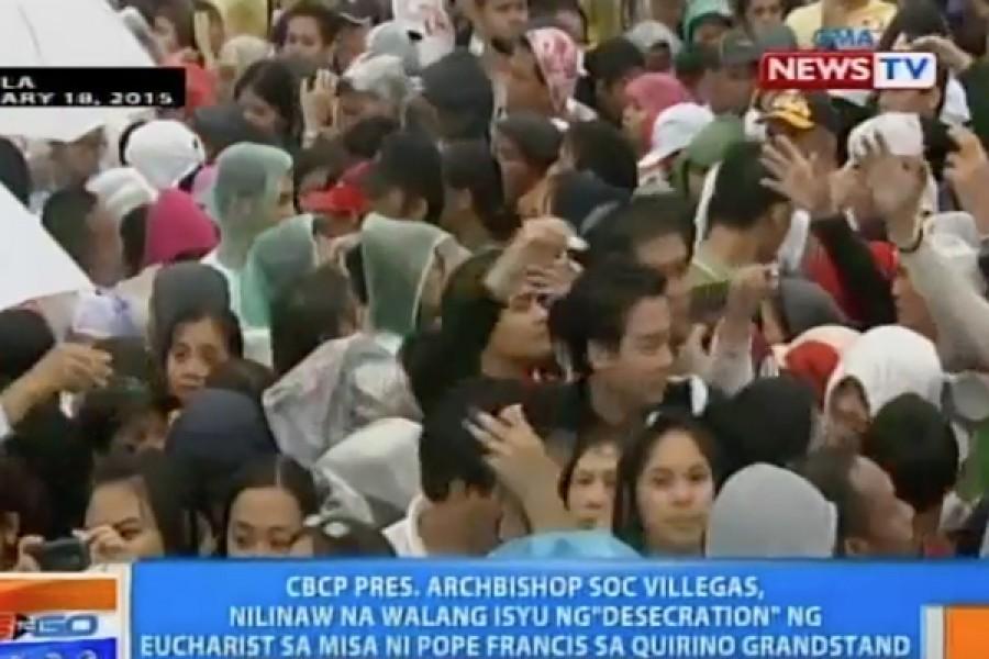 18 gennaio 2015 - Profanazione di Ostie consacrate durante la S. Messa papale nelle Filippine