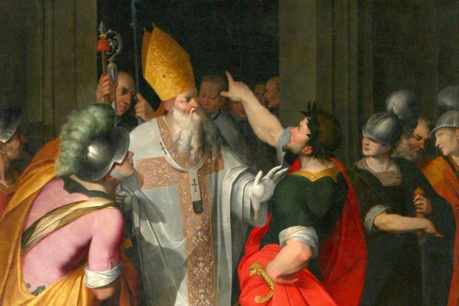 S. Ambrogio - La caduta di una vergine consacrata