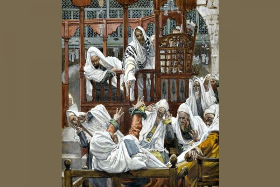 Una predicazione autorevole suscita la ribellione del male che c'è in noi