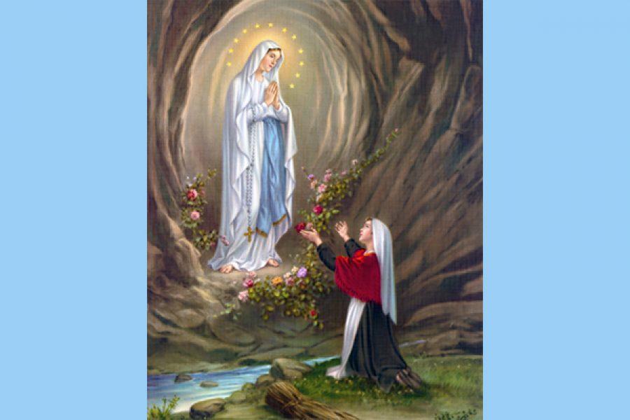 La Madonna a Lourdes: preghiera e penitenza