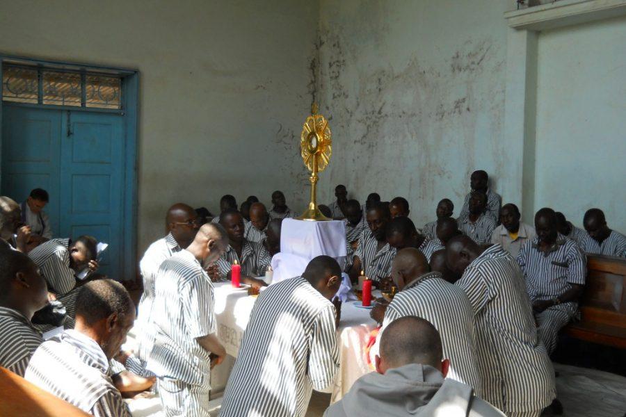 Ritiro eucaristico nella prigione di massima sicurezza Kamiti vicino a Nairobi in Africa