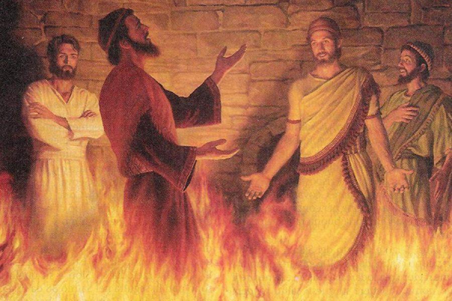 La preghiera di Azaria nel fuoco