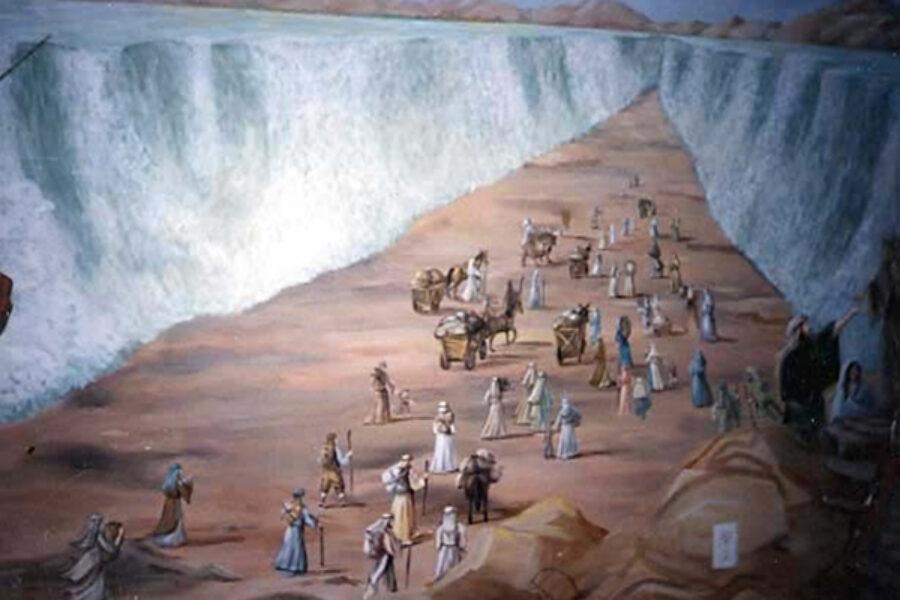 Le acque erano per loro un muro a destra e a sinistra