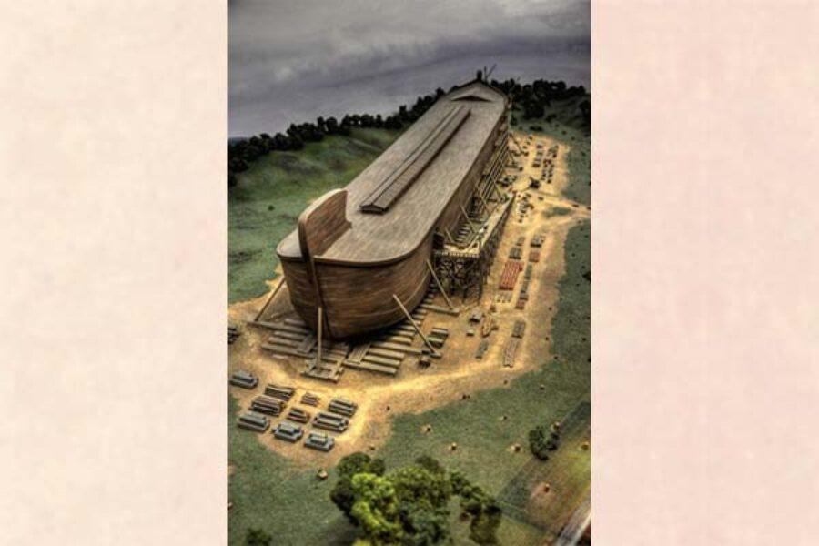 Noè e la sua arca: in vista della pioggia